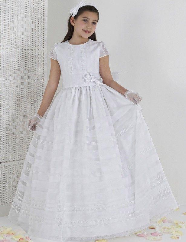 袖つき 足首丈 チュール サッシ フラワーガールドレス 子供ドレス 結婚式 Fab0009