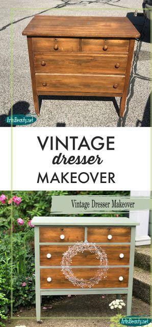 Vintage Farmhouse style Dresser Makeover