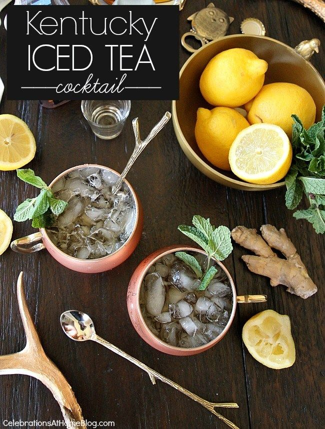 Kentucky iced tea cocktail - a Southern twist on the trendy Moscow mule.