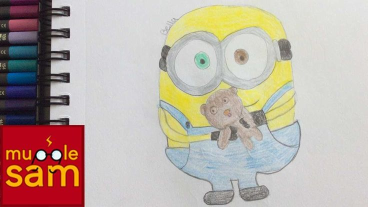 Kids Art Challenge! Drawing Minion Bob and Tim | Mugglesam