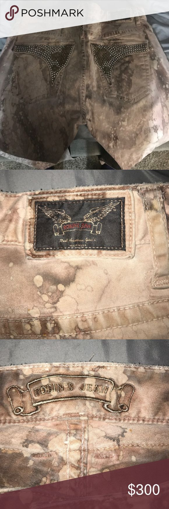 Robin jeans Size 36 robin jeans all Crystal still intact Robin's Jean Jeans Bootcut