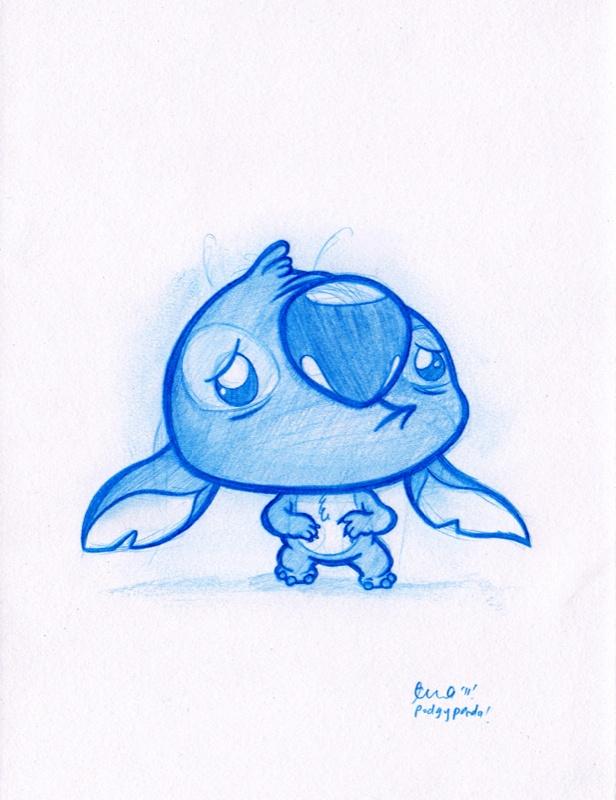 Stitch!: Disney Stitches, Sad Stitches, Art Inspiration, Disney Pixar Oth, Disney Art, Daily Doodles, Doodles Stitches, Photo, Blue Doodles