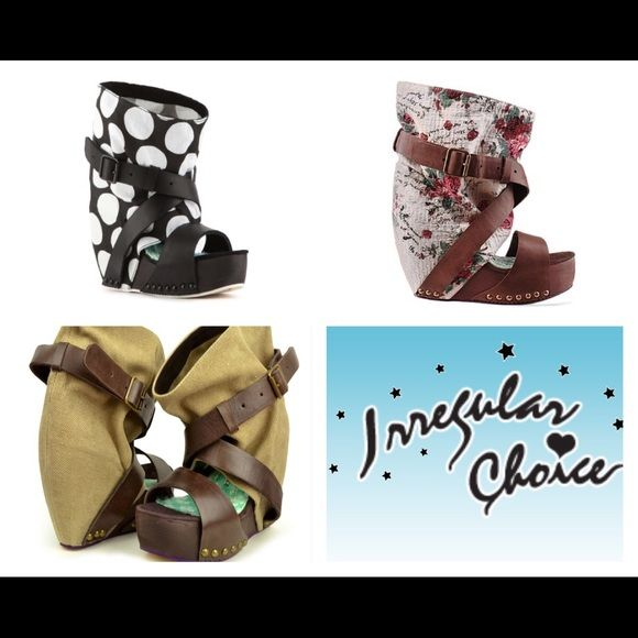 """Wanted- irregular choice """"eat me whole"""" shoe! In search of any pattern of this shoe by this maker. Please tag me of you have it for sale! I can wear a 6.5 or 7! Irregular choice Shoes"""