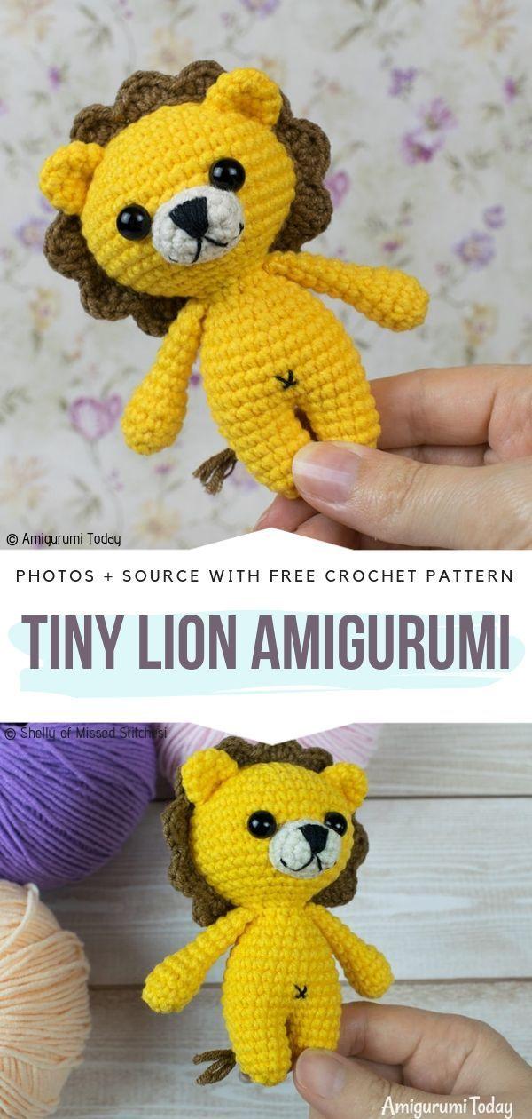 Laurence the Lion Free Amigurumi Pattern | Crochet lion, Crochet ... | 1260x600