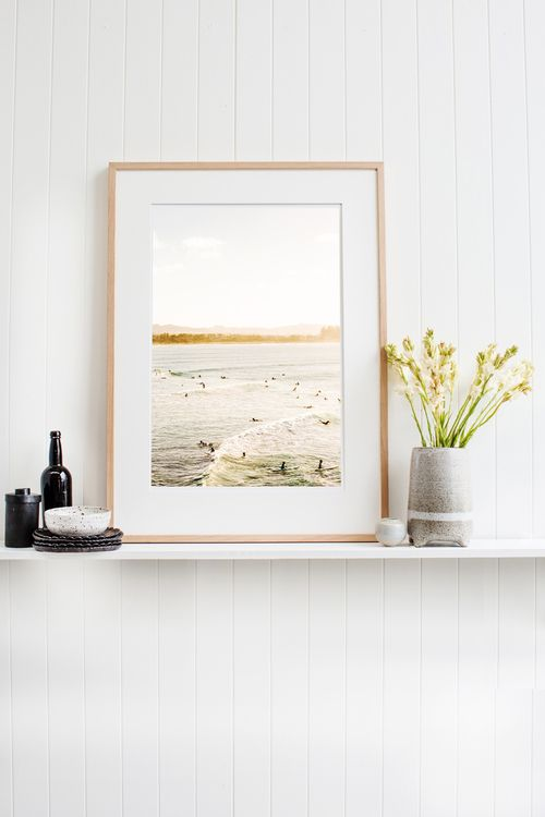'Byron Bay' Photographic Print by Kara Rosenlund. What I love about this image is how the golden light dances across the waves and over The Pass. The water shimmers, and the warmth washes over the surf,  providing a place of escape to those who seek it. © Kara Rosenlund  Shop here: http://shop.kararosenlund.com/byron-bay-photographic-print/