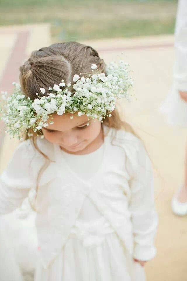 Baby breath crown