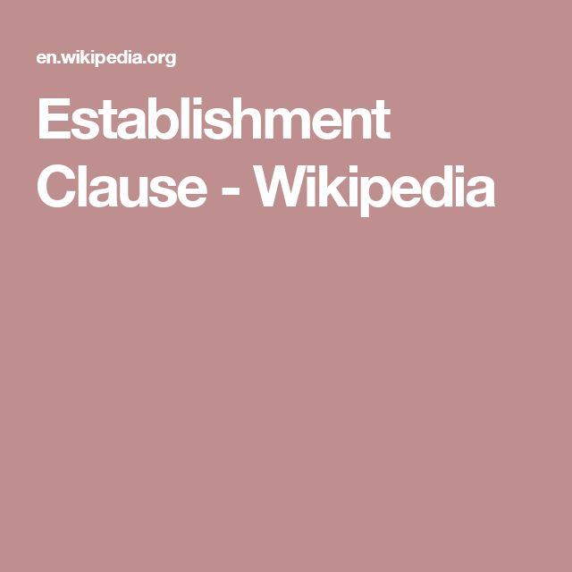 Establishment Clause - Wikipedia