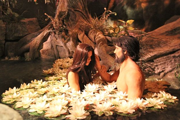 Adam and Eve did it in a pond surrounded by lilies. | 45 Things I Learned At The Creation Museum