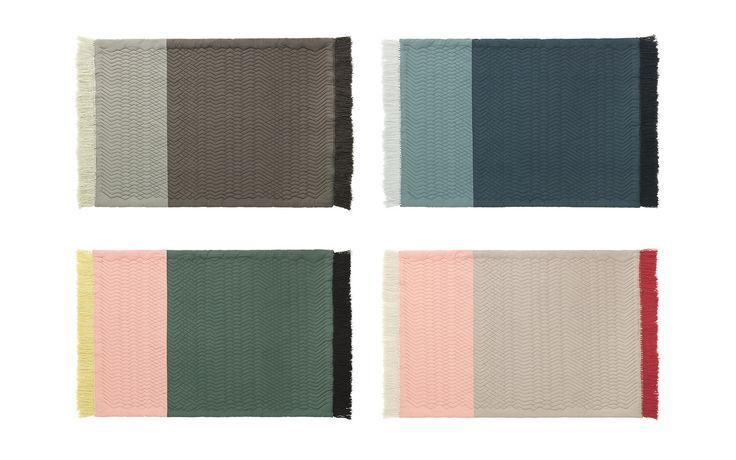 Trace Rug Blush/Dark Green – an inviting quilted rug - normann copenhagen