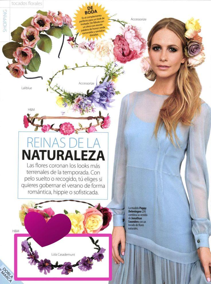 NEWS!  En la revista Stilo Shoes & Bags los looks más chic para tu pelo para este verano con diademas florales de LOLA CASADEMUNT ❤    ❤