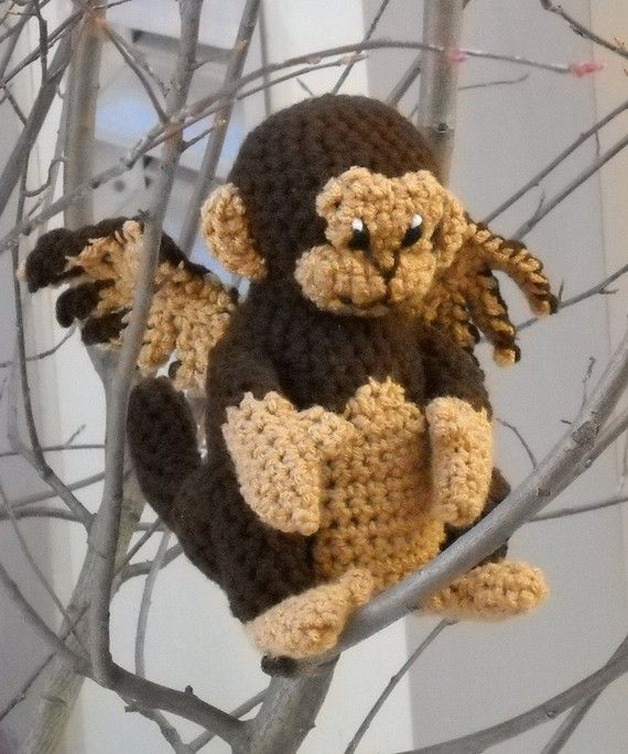 PATTERN  Crochet Winged Monkey by kitsunecreations on Etsy, $4.50