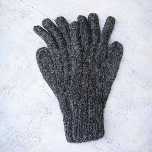 Alpaca Wool Gloves From Peru Lush Gray Wool Gloves Alpaca Wool Gloves