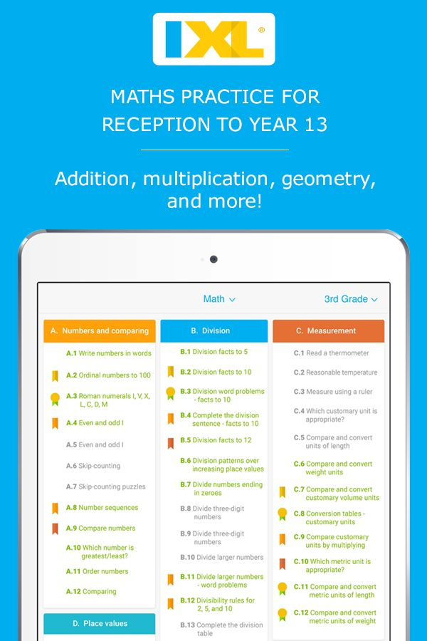 UK maths practice: Fun website and app for Reception to Year 13 - practice 10 free problems a day!
