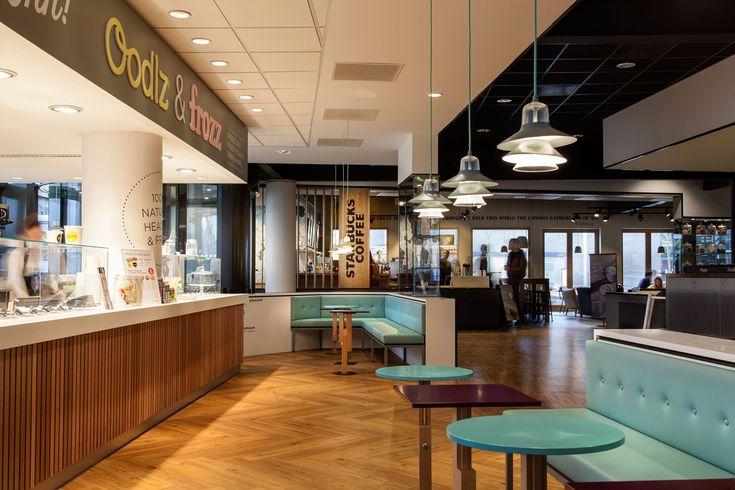 Interior design Erasmus Food Plaza Amsterdam; design by Ninetynine #