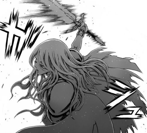anime guys fainting: #Claymore #Teresa