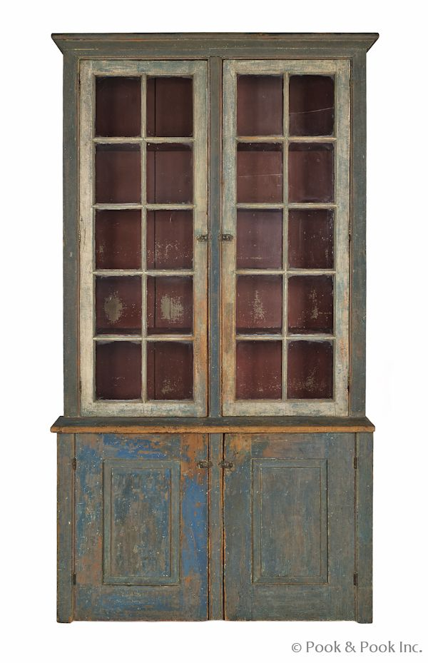 Pennsylvania painted pine step-back cupboard, 19th c., retaining an old blue - 55 Best Stepback Cupboard Images On Pinterest Pine, Apples And