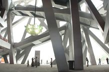 Detail of the Beijing National Stadium structue. Credit Jeremy Stern.