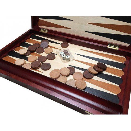 Joc de table din lemn, maro