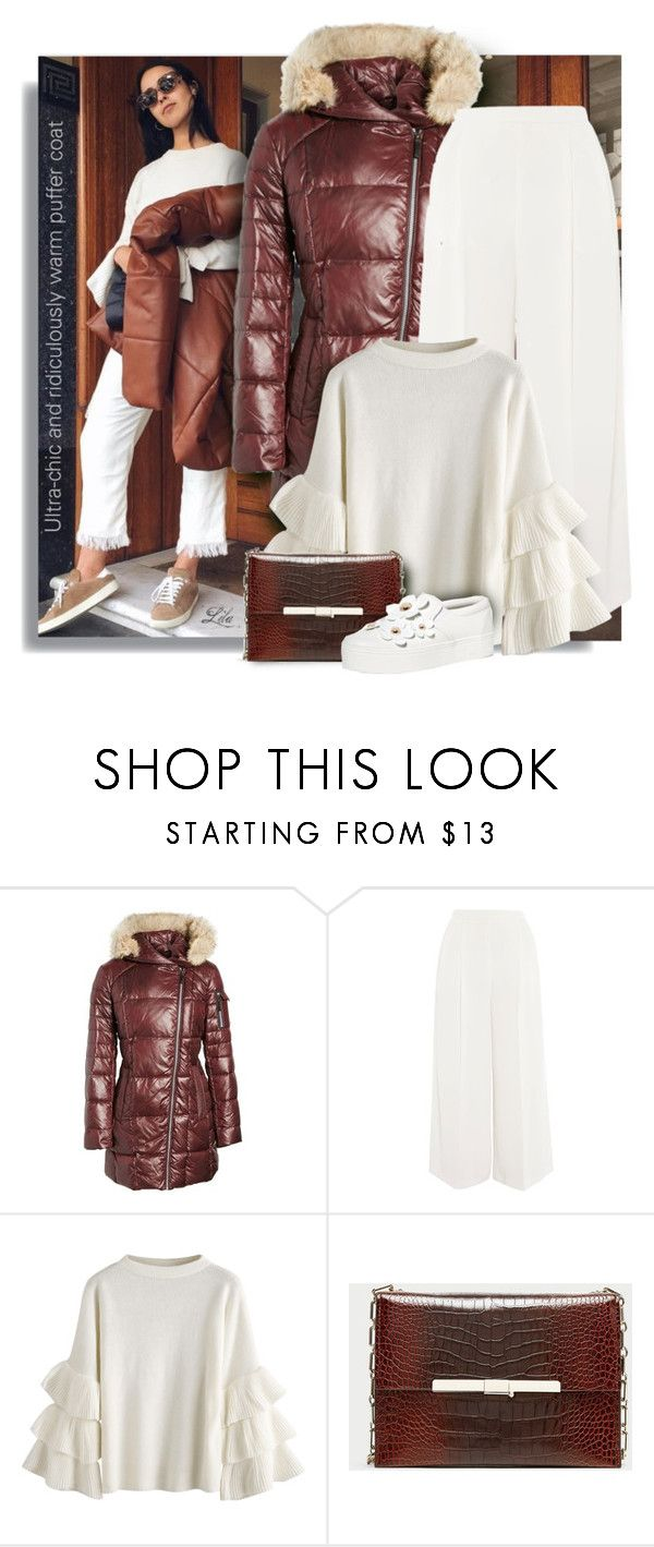 """""""Stay Warm: Puffer Coats"""" by breathing-style ❤ liked on Polyvore featuring Andrew Marc, Topshop and Marc Jacobs"""