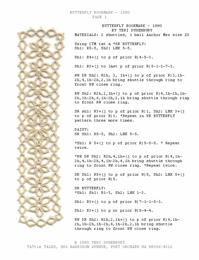 449 best Tatting  Bookmark images on Pinterest Book markers - bookmark size