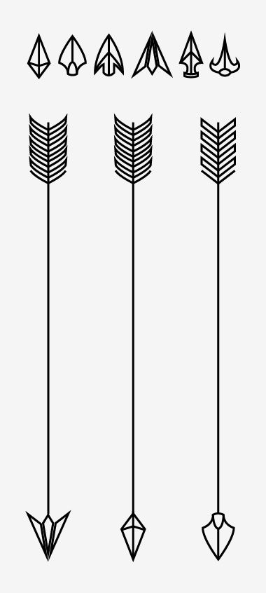 Simple arrow tattoo designs.