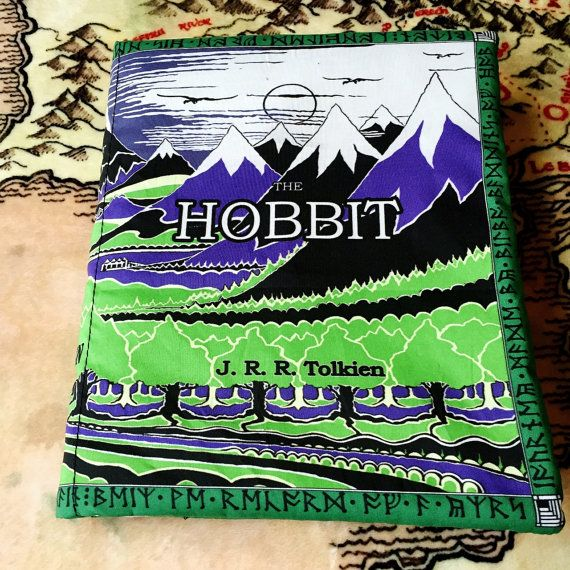 ***NOTE: The pictures above show The Hobbit as I first made it, when my books were only 1 inch thick. I have since switched to 3 inch foam, though I dont have a Hobbit book in 3 inch foam to take pictures of. The cover is staying exactly the same, but the width of the spine will now be 3 inches, as all of my other pillow books are. The inside fabric of the book will also not be the green/teal color, but rather a black or dark grey subtle pattern, once again, as all my other books are…