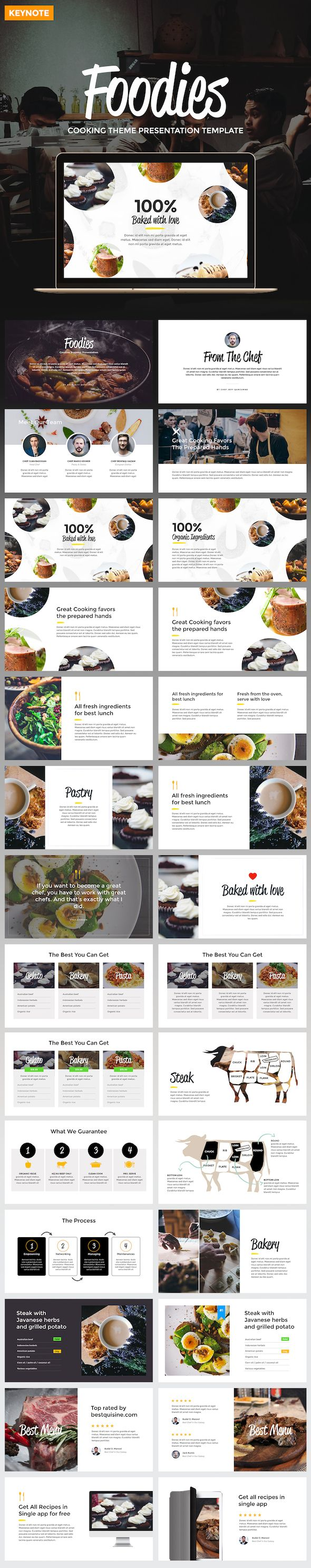 Foodies - Culinary Theme Keynote Template - Keynote Templates Presentation Templates