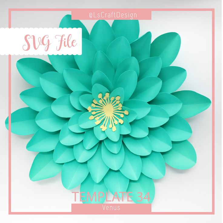 svg paper flower template  giant paper flower templates