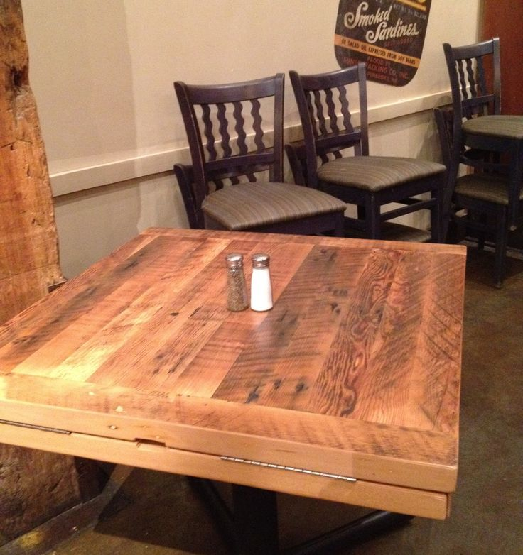 27 best reclaimed wood restaurant table tops images on for Reclaimed wood bay area ca
