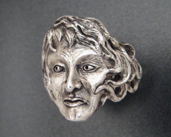 $325 Sterling Silver Goddess Ring