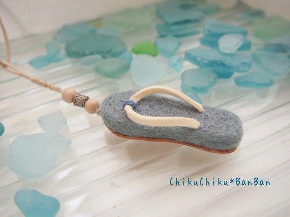 Пляжные сандалии Кулон синий | ожерелье кулон | chikuchikubanban | ручной…