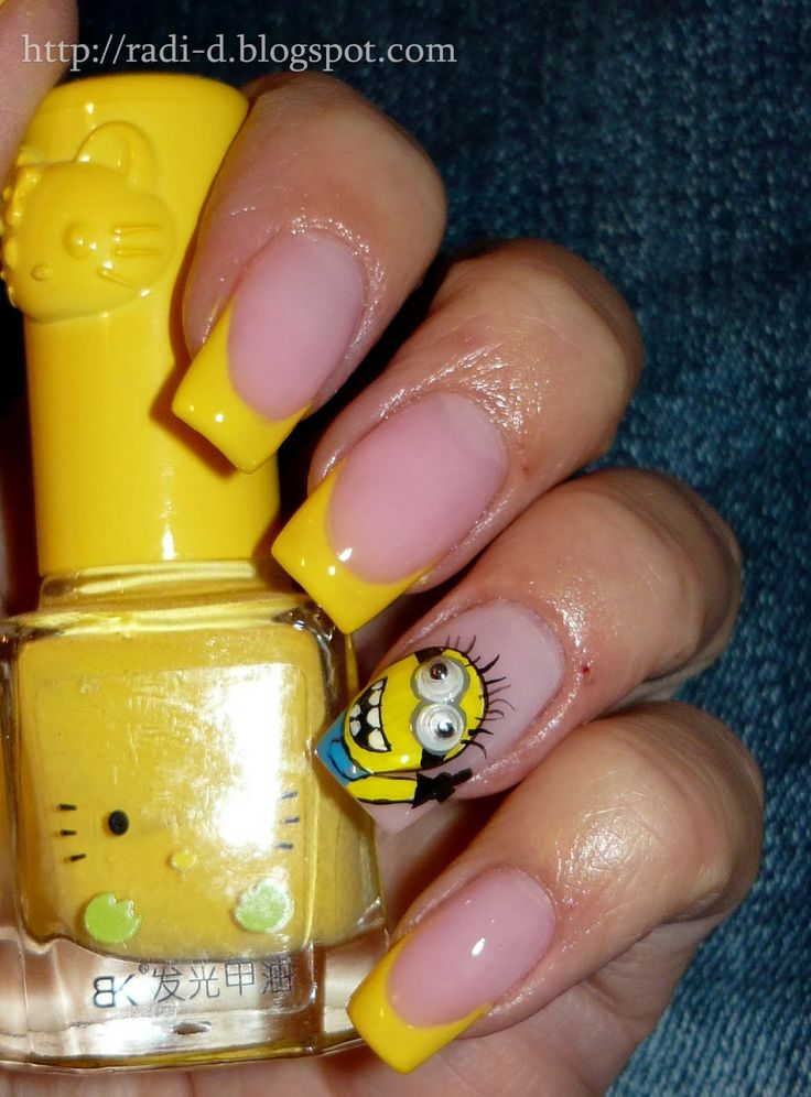 It`s all about nails: The Minions #nail #nails #nailart