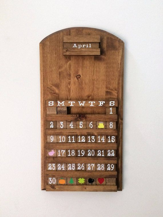 17 best ideas about blank calendar on pinterest monthly calendars blank monthly calendar - Wooden perpetual wall calendar ...