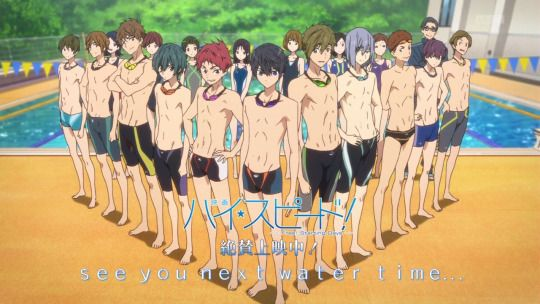 Free! Starting Days end card... Haruka, Makoto, Ikuya (summer days anime)