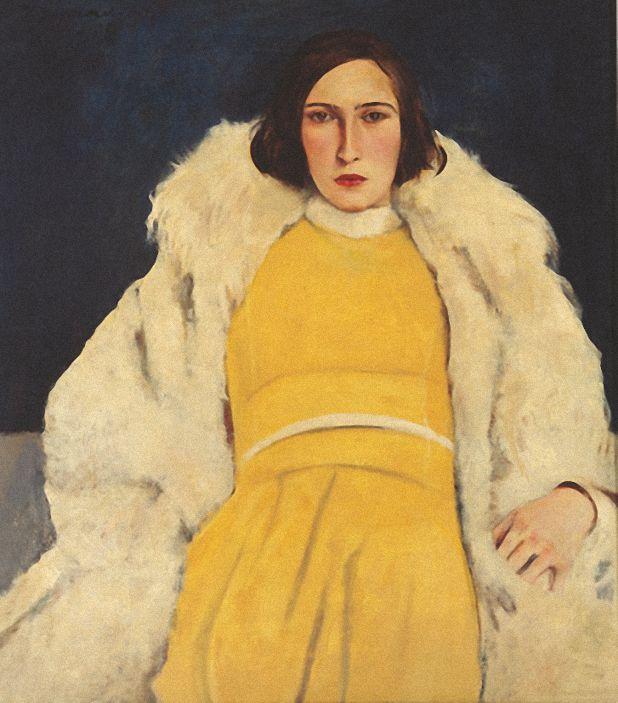 Willy Jaeckel (1888-1944), 1928, Dame in Gel.