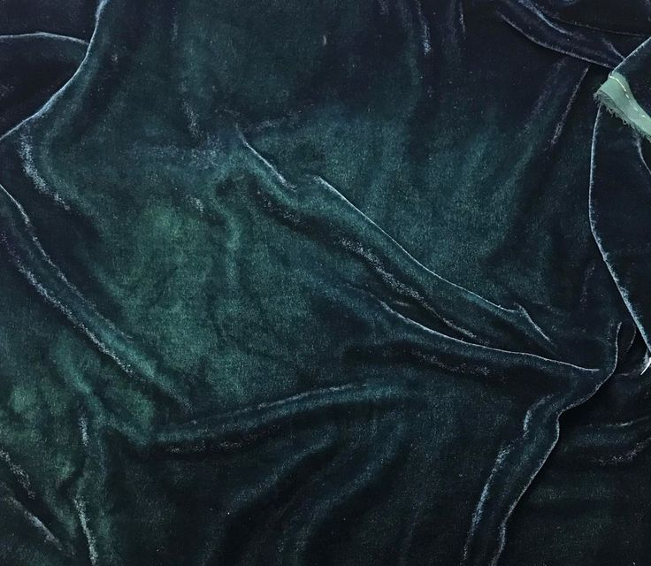 "Hand Dyed Silk VELVET Fabric Deep Teal Blue Green fat 1/4 18""x22"" remnant"