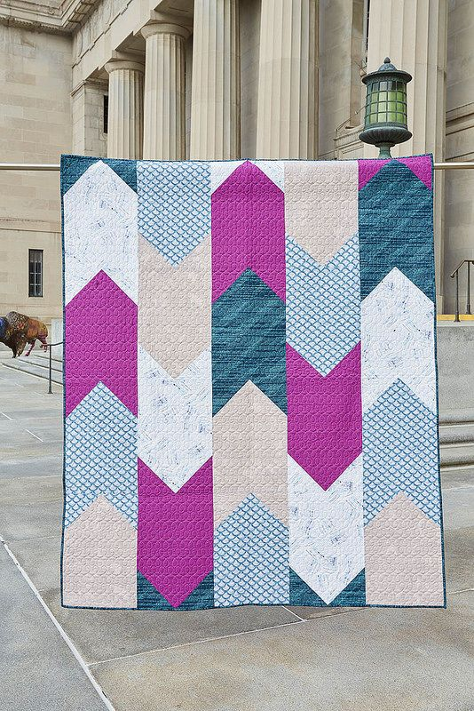 Bookmark Quilt and tutorial by Amanda Castor of Material Girl Quilts