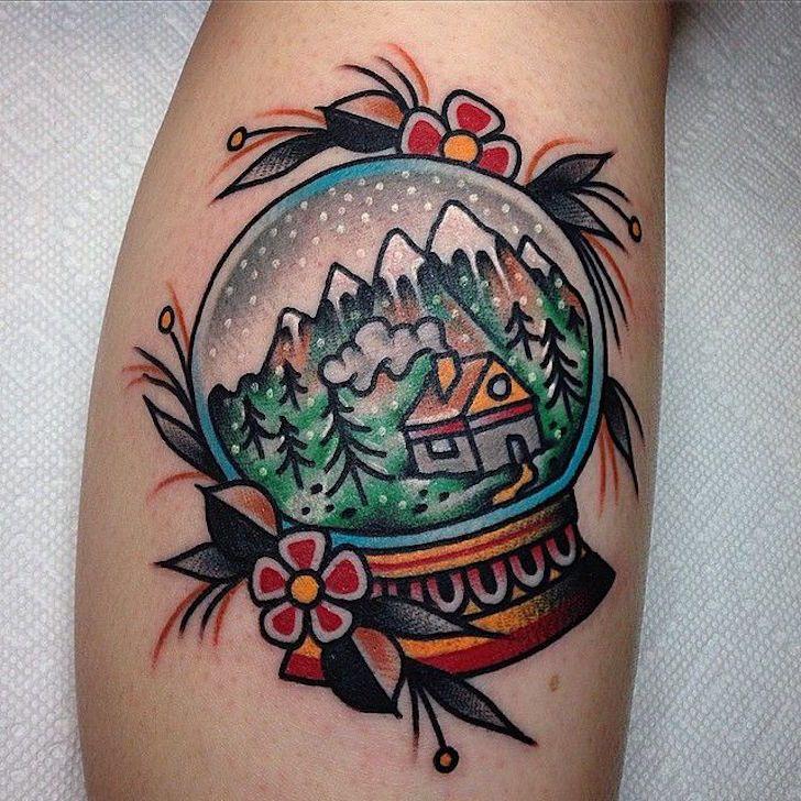 Stunning Snow Globe Tattoos | Tattoo.com