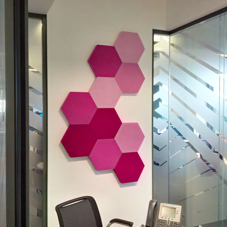 Fluffo Hexa - soft, acoustic wall panels