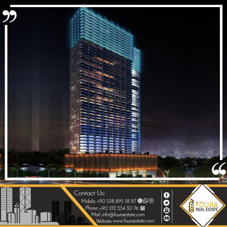 يقع هذا المشورع في منطقة شيشلي  -تبلغ مساحة المشروع 26.000 متر مربع بارتفاع 48 طابق ويحتوي على 1080 شقة  -الغرف : تبدأ من غرفة وصالة وصولا للخمس غرف وصالة #السعودية #الامارات #دبي #الكويت