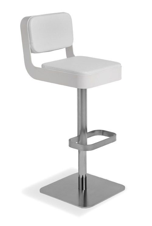 Swivel counter stool with footrest BELT PLUS by AREA DECLIC design MI_CE_BA Design