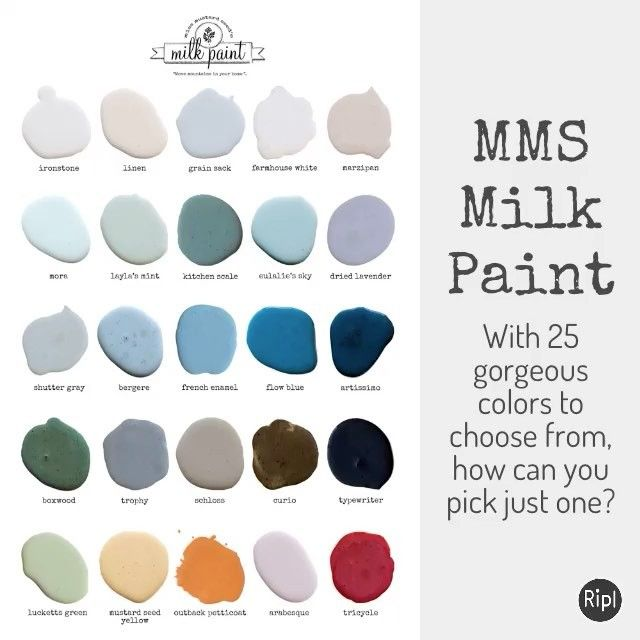*25 gorgeous colors 💕 *5 ingredients *Over 250 retail locations in the US, Canada, Europe, and Australia 🌍 Which colors are YOUR favorites? Tell us below! ⤵️ #movemountainsinyourhome #proveyourselfwrong #iheartmilkpaint #mmsmp #mmsmilkpaint #peintureaulait #mjölkfärg #milchfarben