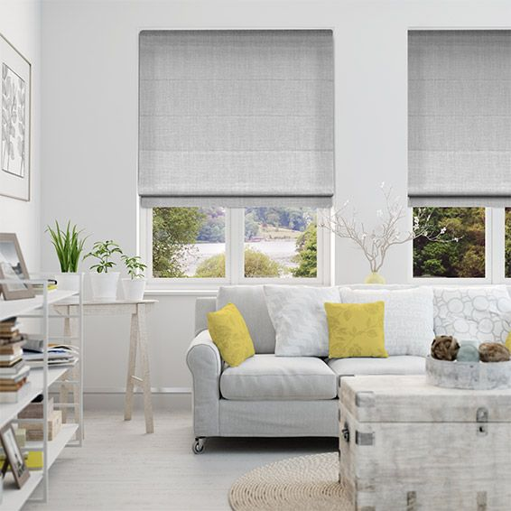 Providence Softest Grey Roman Blind from Blinds 2go