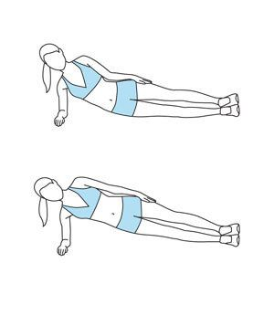Move 5: Side Plank   Tone and strengthen your abdominal muscles with8 quick exercises.