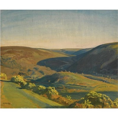 Alfred James Munnings - Exmoor Landscape North Devon
