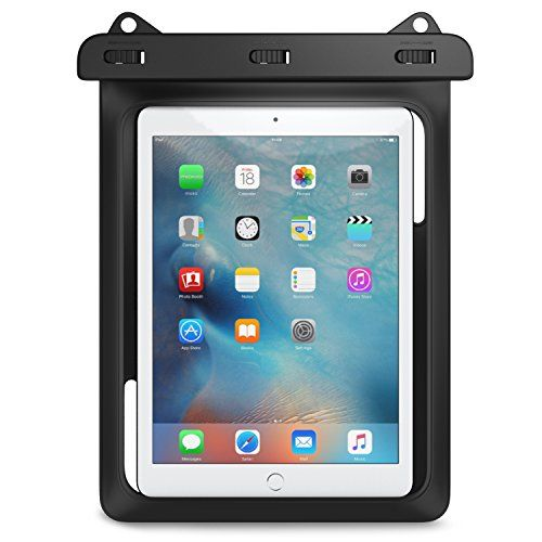 nice Universal Waterproof Case, MoKo Dry Bag for Outdoor Activities, Fits iPad Pro 9.7, iPad Air / Air 2, iPad 2 / 3 / 4, Tab A 9.7 / Tab S2 9.7 / Tab E 9.6 and other tablets up to 10 inch, BLACK