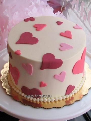 Торт день святого валентина фото