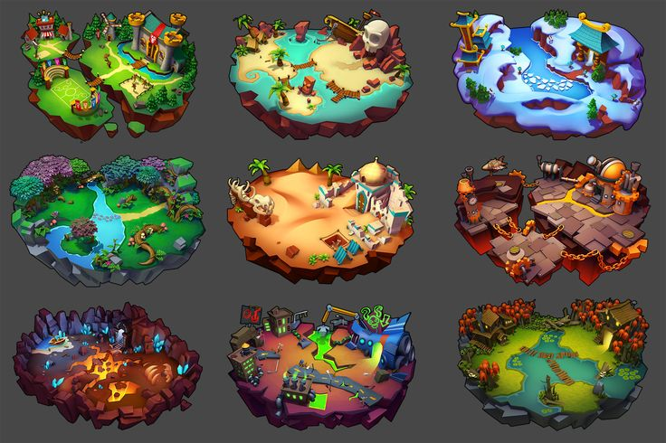 ArtStation - Monster Kingdom 2 Backgrounds & Maps, Alex Nguyen