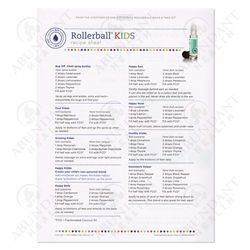 Rollerball Kids Recipe Sheets (25 Sheets)