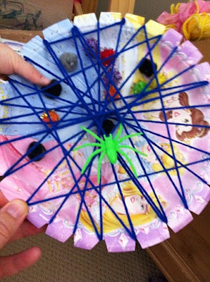 spider web craft - could do for Halloween or nursery rhyme